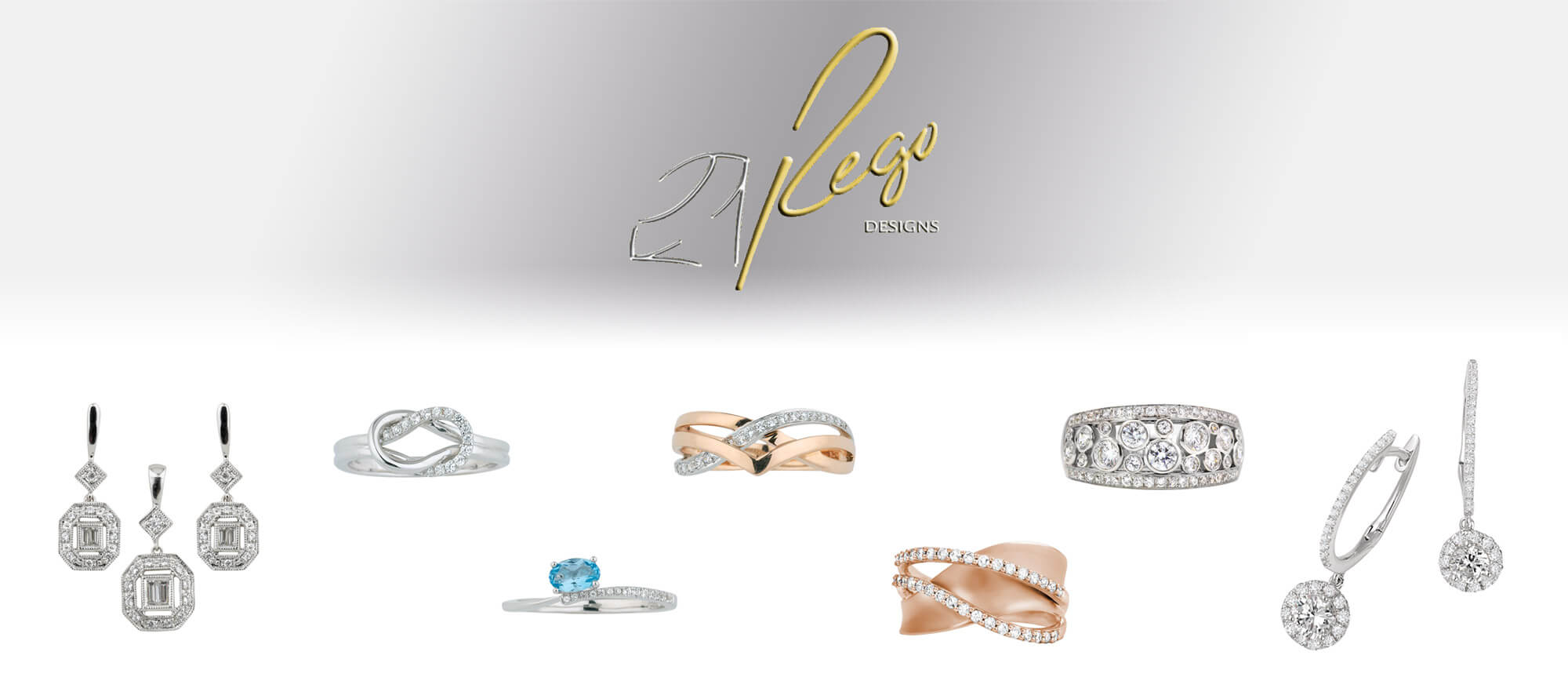Grouping of rings and earings by Rego Designs